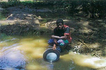 """Gabriel Mbega hay que vigilar a los extranjeros están robando el oro"""""""