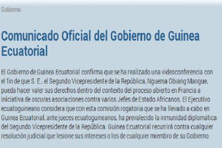 """Gobierno de Guinea """"Siempre hemos confiado en la presunción de la inocencia"""""""