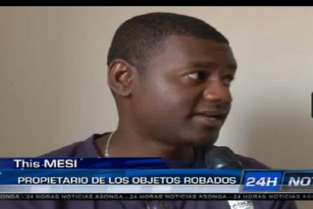 """Thiss Mesi """"agradezco a la policía por haber detenido a los ladrones"""""""