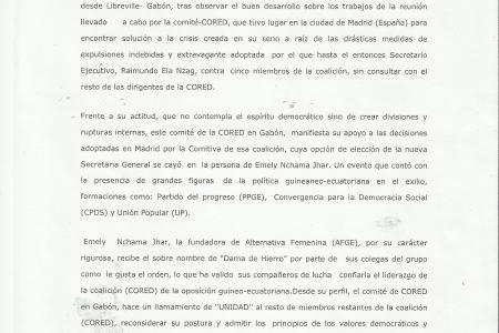 MOCIÓN DE CONFIANZA DE JUAN EIPTA WHANDJA