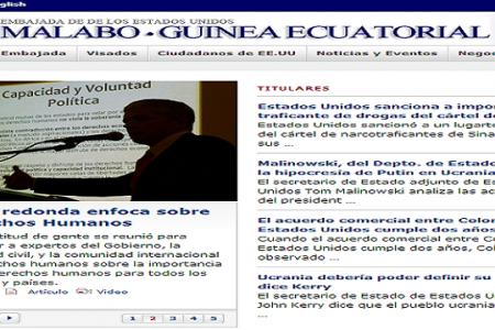 EL PASADO DÍA 21 SE CELEBRÓ UNA CHARLA POLÍTICA EN LA EMBAJADA DE USA EN MALABO