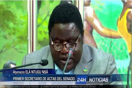 EL SENADOR ATANACIO ELA NTUGU NSA ARREMETE CONTRA DIONISIA OKENVE