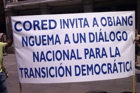 UNA VEINTENA DE GUINEANOS INICIAN LA CONCENTRACIÓN PACÍFICA EN MADRID