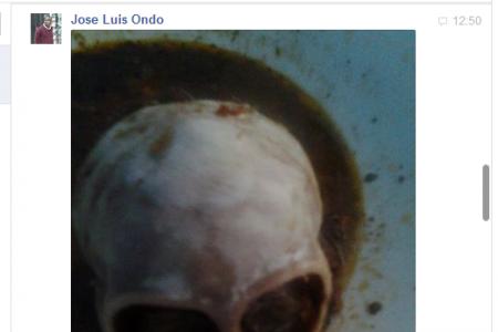 JOSE LUIS ONDO EMPLEADO DE MUNI ENVIA UN MENSAJE AMENAZANTE A DIARIO ROMBE (IMAGEN)