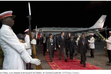Mariano Rajoy ya se encuentra en la República de Guinea Ecuatorial