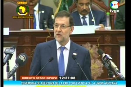 Mariano Rajoy reconoce la existencia de Paz y democracia en el Continente Africano