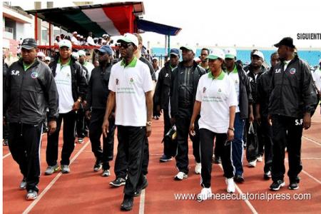Constancia Mangue pide al pueblo que no se olvide nunca de Obiang