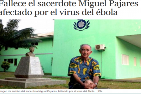 Muere el padre Miguel Pajares, el religioso enfermo de ébola repatriado desde Liberia