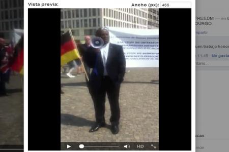 Vídeo (MANIFESTACIÓN): BERLIN-ALEMANIA PUERTA DE BRADEMBOURGO