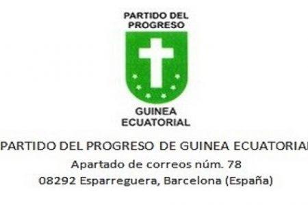 Comunicado de la Ejecutiva Provisional del Partido del Progreso de Guinea Ecuatorial
