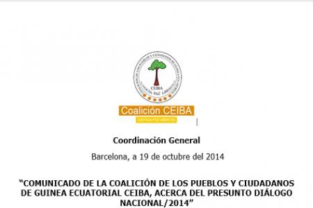 COMUNICADO DE LA COALICIÓN CEIBA ACERCA DEL PRESUNTO DIÁLOGO NACIONAL
