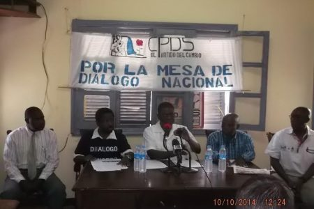 Algunas fotos de la rueda de prensa de los Firmantes del MM en Guinea Ecuatorial