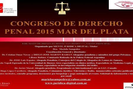 CONGRESO DE DERECHO PENAL EN MAR DEL PLATA