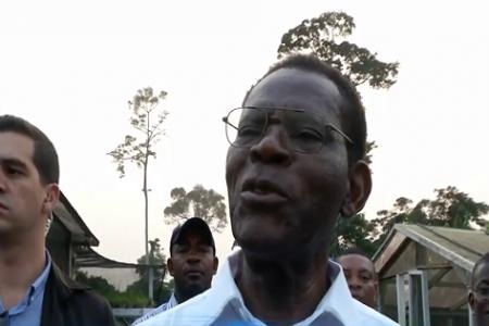 """Obiang Nguema """"Hay síntomas de hambre porque la gente no quiere trabajar"""""""