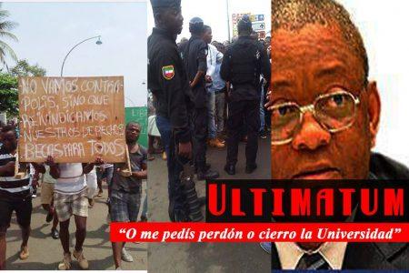 """""""Lukito"""" amenaza con cerrar definitivamente la Universidad si los estudiantes no le piden perdón"""