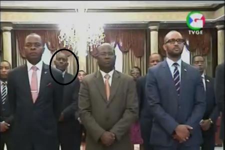 El actor porno del Ministerio de Información jura su cargo ante el Presidente Obiang