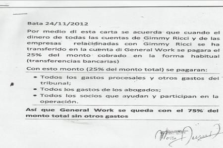 Los trapicheos de la empresa General Work y su cúpula Directiva