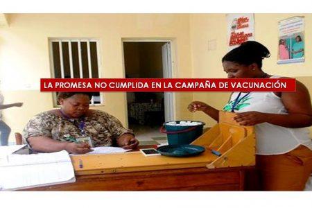 LA PROMESA NO CUMPLIDA EN LA CAMPAÑA DE VACUNACIÓN
