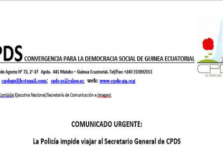 La Policía impide viajar al Secretario General de CPDS
