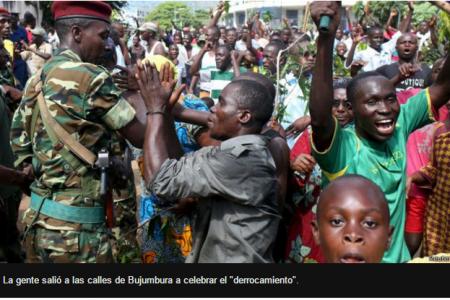 El Ejército destituye al Presidente de Burundi tras intentar presentarse a un tercer mandato