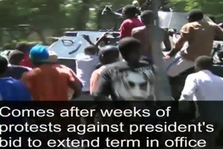 El pueblo de Burundi festeja el Golpe de Estado