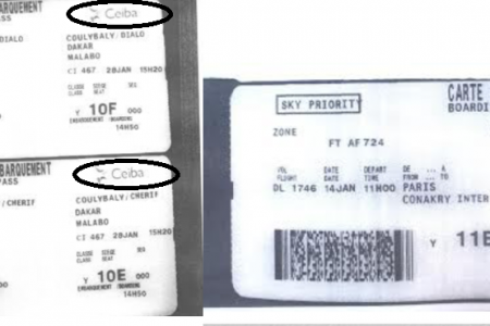 El Gobierno de Guinea Ecuatorial falsifica las tarjetas de embarque de «Aire France»