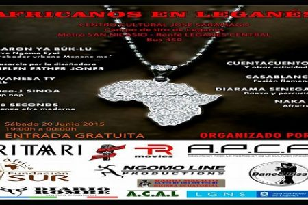 Festival «Africanos en Leganés» el próximo sábado día 20 de junio en Leganés