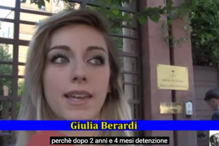 """Libertad para Roberto Berardi"" – Giulia Berardi y Rossella Palumbo"