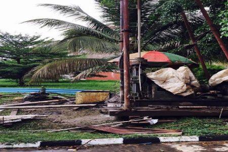 Malabo II: Por falta de agua en las viviendas, los chinos construyen pozos de agua para particulares