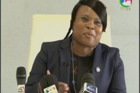Se encuentra en Guinea Ecuatorial Emely Nchama, Secretaria General de la CORED que lidera