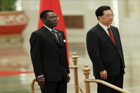 El gobierno chino podría estar retirando sus edificios ministeriales porque obiang no paga