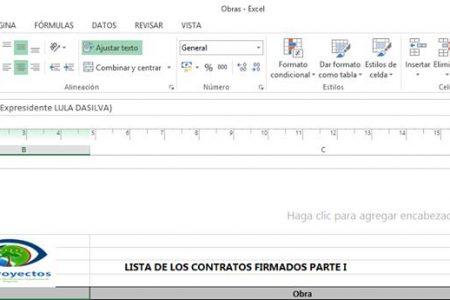 Ya pueden descargar documentos de GE PROYECTOS donde salen las adjudicaciones de obras