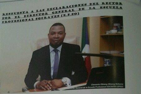 Clemente Obiang Obiang Nchama amenaza con denunciar al Rector Filiberto Ntutumu Nchama