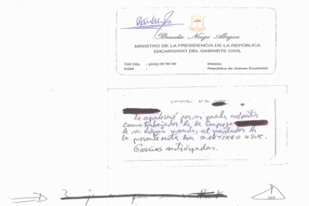 Tráfico de influencias en el Ministerio de Defensa y el Ministerio de Gabinete Civil