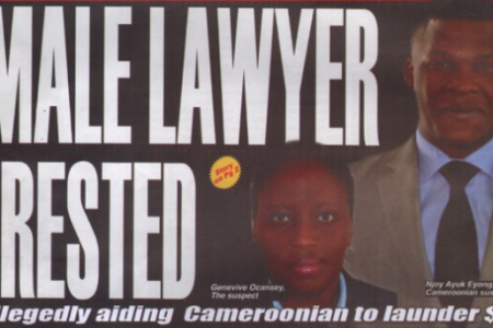 Detenida en Ghana Geneviève Ocansey abogada de Mbega Obiang Lima por blanquear $ 2.5 millones