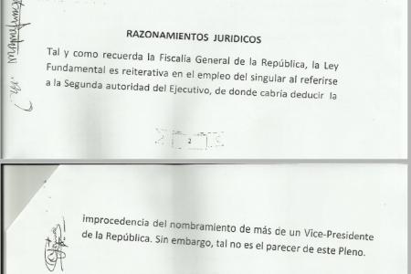 El Tribunal Constitucional reconoce la INCONSTITUCIONALIDADdel cargo deTeodorín