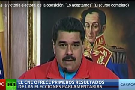 """Maduro tras la victoria electoral de la oposición: """"Lo aceptamos"""""""