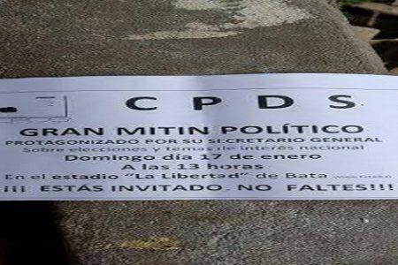 EL Ministro del Interior ordena la detención de dos dirigentes de CPDS por repartir octavillas