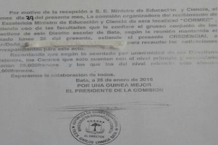 El Ministro Jesús Engonga obliga a los Centros Privados abonar 45000 Fcfa para su dieta