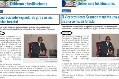 ¿Sigue el Segundo Vicepresidente en Curazao o está encabezando una comisión forestal en Guinea Ecuatorial?