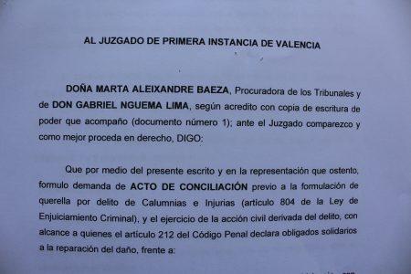 El 1 de junio se celebrará en Valencia el acto de conciliación entre Mbega Obiang y Mocache Massoko