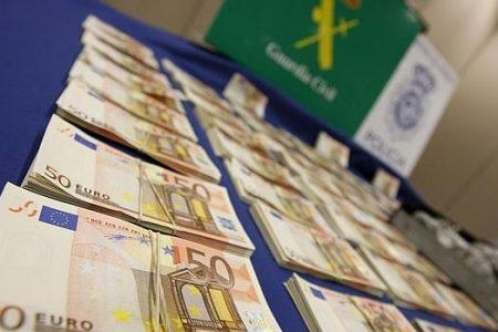 La Guardia Civil interviene 9,5 millones de euros en Barajas