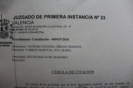 Teodorin interpone una demanda de conciliación en los juzgados de Valencia contra Diario Rombe