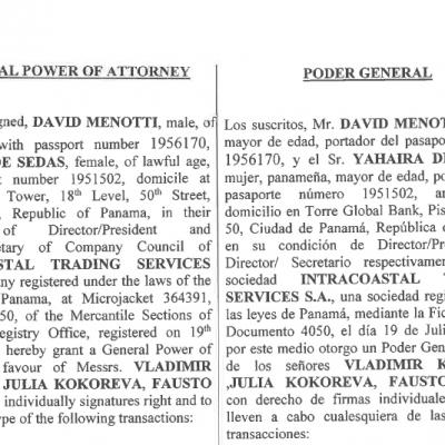Intracoastal Trading Services: Movimientos financieros inconsistentes en la empresa de Fausto Abeso