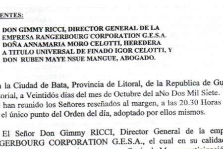 El Departamento del Primer Ministro filtra documentos relacionados con las empresas de Igor Celotti