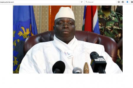 Hackeada la web del PDGE en protesta por dar cobijo al dictador Yahya Jammeh