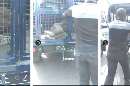 La policía tortura, desnuda y maniata públicamente a un supuesto delincuente en Lamper
