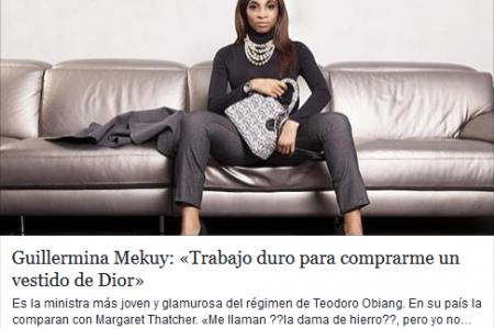 Dura carta abierta de una Malabeña -Marta- a la ex Ministra Guillermina Mekuy -la Dior-