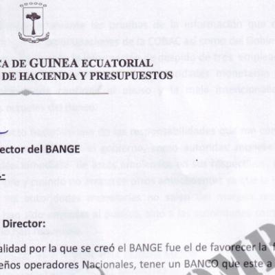 La COBAC manifiesta su desconfianza por las sospechosas actividades del BANGE