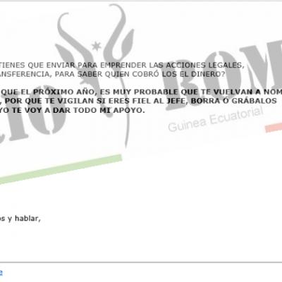 Candido Muatetema Rivas fue advertido por Email sobre el inminente «ataque» que habría de recibir
